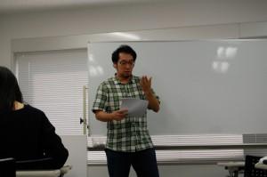 第4期よりサブ講師を務める竹田。前職は喫茶店の店長。